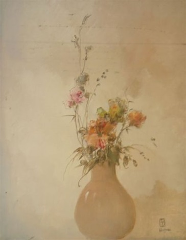 arrangement en rose by leon dabo