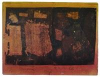 helle insel in rotem grund vor gelb (tafel) by hermann glöckner