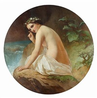bathing beauty (after timofei andreevich neff) by ernst karlovich lippgart