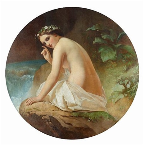 bathing beauty after timofei andreevich neff by ernst karlovich lippgart