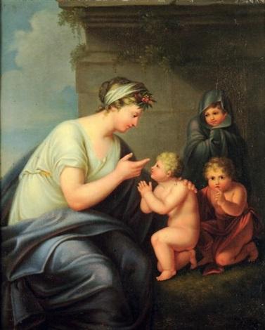 mère et ses trois enfants by andries cornelis lens