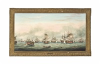the battle of the saintes, 12th april by thomas whitcombe
