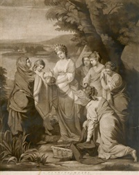 die auffindung moses (after henry pelham) by william ward