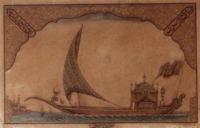 a royal barge on the bosphorus by hamud al wazan