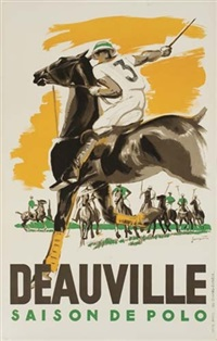 deauville/saison de polo (by jacques) by posters: sports