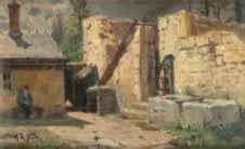 montfaucon village près de besançon by alphonse marie de neuville