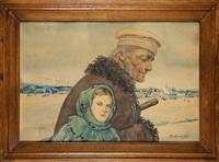 dziadek z wnuczką by adam dobrowolski