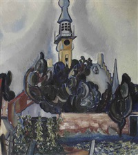 view of the city hall of veere by charley toorop
