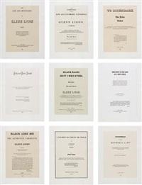 narratives (disembark) (set of 9) by glenn ligon