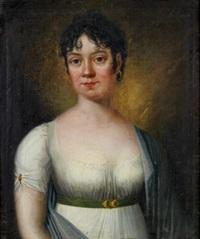 porträtt föreställande fröken másterko by carl fredrik van breda