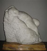 liggende bacchus by alfons de roeck