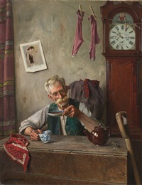 teatime by charles spencelayh