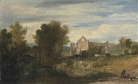 newark abbey on the river wey by joseph mallord william turner