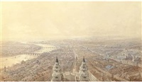 an extensive view of london from st. paul's cathedral, looking west by thomas allom