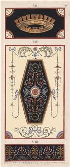 ohne titel (2 designs for interior decorations) by michelangelo pergolesi