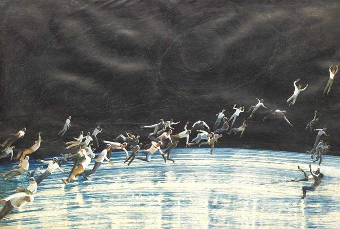 flying figures by pyotr belenok