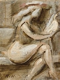 young woman reading by reginald marsh