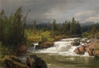 river landscape by hermann herzog