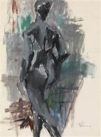 untitled (standing nude) by alma woodsey thomas