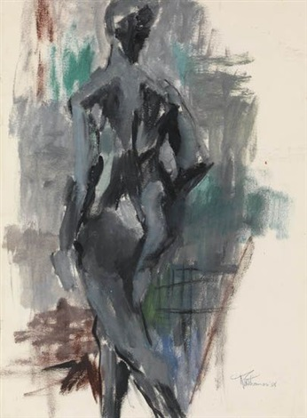 untitled standing nude by alma woodsey thomas