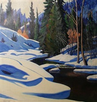 icy river by marques e. reitzel