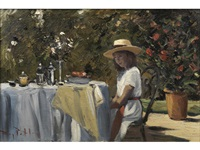 lunch on the patio by roy petley