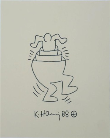 pants man by keith haring