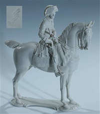 militärische figur friedrich der große alte fritz (designed by theodor kärner) by allach porzellanmanufaktur