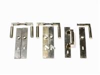 2 pairs of door handles & rare door pull (set of 11) by adolf meyer and walter gropius
