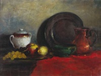 nature morte aux raisins by haralambos potamianos