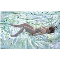 reclining nude by maria filopoulou