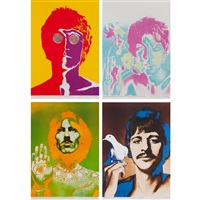 the beatles (set of 4) by richard avedon