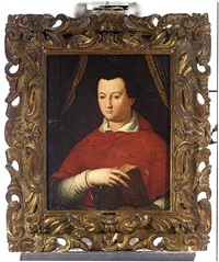 a portrait of cardinal giovanni di cosimo i de medici by agnolo bronzino