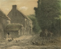 farm house at gruchy by jean françois millet