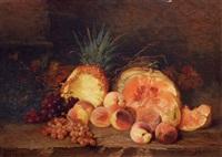 früchtestilleben mit ananas by nel (nelius) grönland