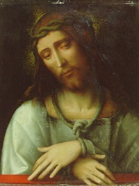 christ crowned with thorns by giacomo raibolini