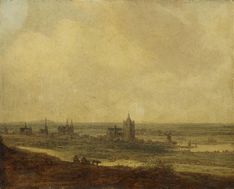 a view of arnhem from the north west by jan josefsz van goyen