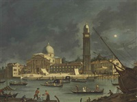 a night festival at san pietro di castello, venice by pietro bellotti