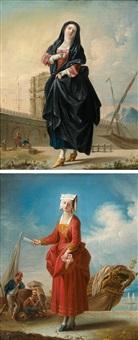 la frascatane, la vénitienne (pair) by jean barbault