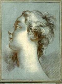 tête de jeune fille, de profil à gauche (after f. boucher) by gilles-antoine demarteau