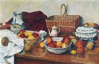 nature morte aux pommes by arthur fillon