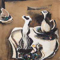 still life with pear by anthony whishaw