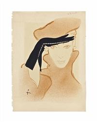 a design for crescendoe gloves by rené gruau