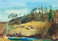 landschaft im vorfrühling by josef dobrowsky