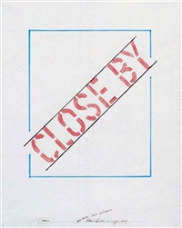 close by by lawrence weiner
