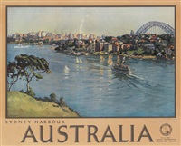 sydney harbour/australia by john william (sir) ashton