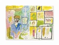 portrait of jean kallina by jean-michel basquiat
