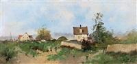 le hameau by eugène galien-laloue