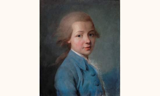 portrait de jeune garçon à la veste bleue by joseph boze