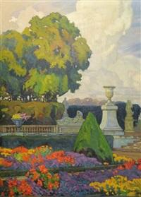 vue des jardins de versailles by tony georges roux